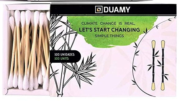 Biodegrable cotton swaps by Duamy. A Spanish webshop to reduce single use plastic